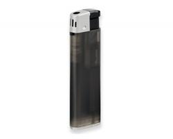 Plnitelný zapalovač piezo ALECK - transparentní černá