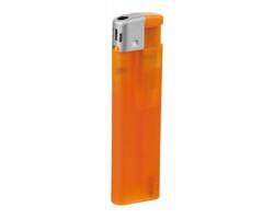 Plnitelný zapalovač piezo ALECK - transparentní oranžová