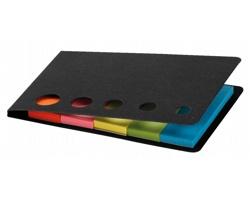 Barevné lepicí papírky MAGDA v papírových deskách - černá