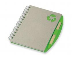 Ekologický zápisník RAINER s perem - světle zelená