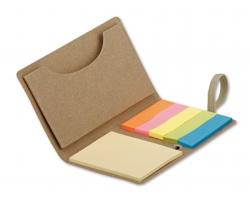 Lepicí papírky TAZY v papírových deskách - natural (přírodní)
