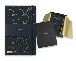 Poznámkový zápisník Castelli CASTELLI ART DECO se zapínáním na gumičku - černá