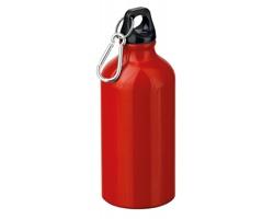 Kovová outdoorová láhev BARAC s karabinou, 500ml - červená