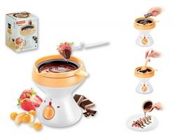 Značkové elektrické čokoládové fondue Tescoma DELICIA FONDUE s víčkem, 350 ml - tmavě hnědá