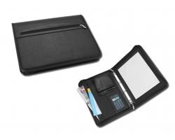 Konferenční desky ELEANOR, A4 s kalkulačkou a blokem - černá