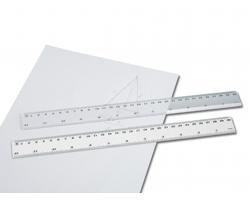 Plastové pravítko RULER, 30cm - bílá