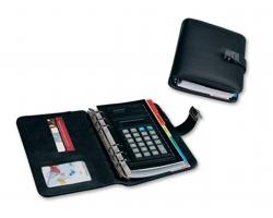 Organizér NORA s kalkulačkou a záložkami - černá