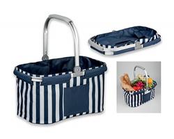 Skládací polyesterový piknikový košík MEGALI - tmavě modrá