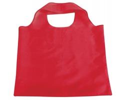 Skládací polyesterová nákupní taška FOLA - červená