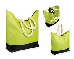 Polyesterová plážová taška KENZA - světle zelená