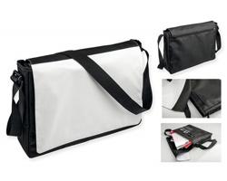 Polyesterová taška přes rameno SUBLIBAG s integrovaným organizérem - černá