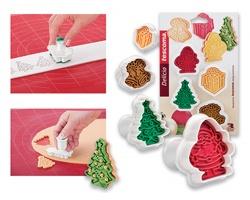 Vánoční vykrajovátka cukroví s razítkem Tescoma DELICIA SWEETS, 4 ks