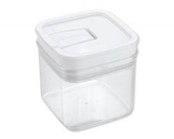 Značková plastová dóza na potraviny Tescoma AIRSTOP, 0,5 l - transparentní