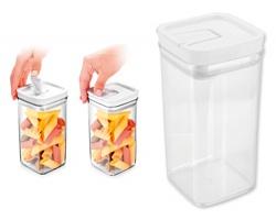Značková plastová dóza na potraviny Tescoma AIRSTOP, 1,4 l - transparentní