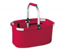 Značkový skládací nákupní košík Tescoma SHOPERO s pevným uchem - červená