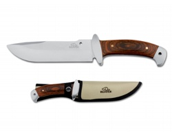 Nerezový lovecký nůž Beaver NORRIS v pouzdru - světle žlutá