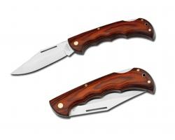 Kapesní nůž Beaver LUTZ s dřevěnou rukojetí - světle žlutá