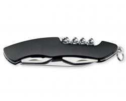Nerezový kapesní nůž RAFER, 5 funkcí - černá