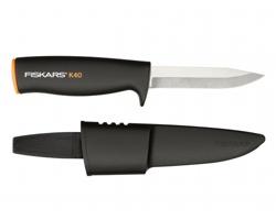 Univerzální nůž Fiskars NŮŽ UNIVERZÁLNÍ s pouzdrem, 21.5cm - černá