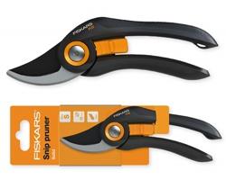 Značkové dvoučepelové zahradní nůžky Fiskars GARDENER s ergonomickou rukojetí - černá