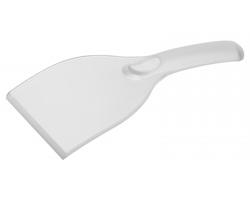 Plastová škrabka LINZI do auta - transparentní bílá