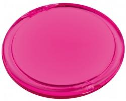 Plastové zrcátko MEIRA - transparentní růžová