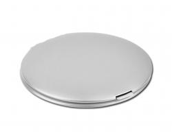 Dvojité kapesní zrcátko PERLA - stříbrná