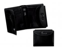 Dámská kožena peněženka Santini CAPRICE - černá