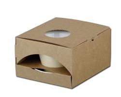 Papírová dárková krabička GB CLAUDE - natural (přírodní)