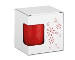 Dárková krabička s potiskem GB MUG CHRISTMAS - bílá