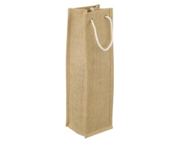 Jutová taška na víno DELLA - natural (přírodní)
