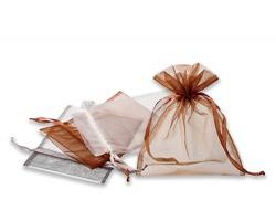 Textilní dárkový sáček SACHET se stahovací mašlí - šedá