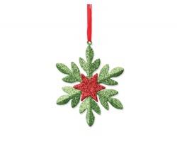 Vánoční ozdoba SNOWFLAKE ve tvaru sněhové vločky - zelená