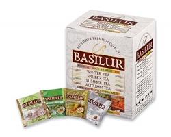Variace černého a zeleného čaje Basilur LITTLE SEASON, 10 čajových sáčků