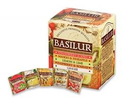 Selekce černých čajů čajů Basilur LITTLE GARDEN s ovocnou příchutí, 10 čajových sáčků