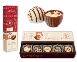 Vánoční balení belgických pralinek CARAMEL-COFFEE se 2 druhy čokolády, 73 g