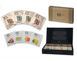 Dárková kazeta černých čajů JAFTEA COLLECTION s ovocným aroma, 80 čajových sáčků