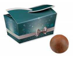 Vánoční italské pralinky z mléčné čokolády SWEET BLUE s oříškovou příchutí, 32 g - modrá