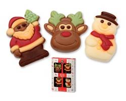 Čokoládové vánoční figurky FUNNY CHRISTMAS, 60 g