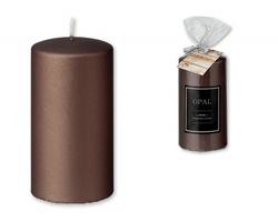 Dekorační svíčka BIG CANDLE v dárkovém balení - tmavě hnědá
