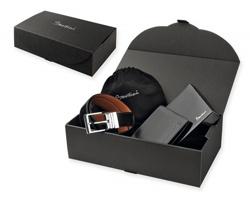 Sada peněženky a pásku Santini MALINI SET v dárkové balení - černá