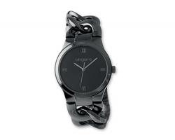 Značkové dámské náramkové hodinky Seiko UNGARO OROLOGIA se slitinovým náramkem - černá