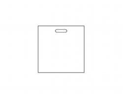 Plastový obal na kalendáře OBAL, 47x48 - leskle černá