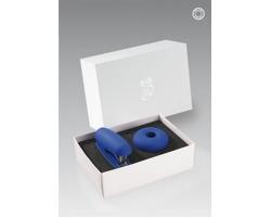 Plastová sada kancelářských potřeb OFITE, 2 doplňky - modrá