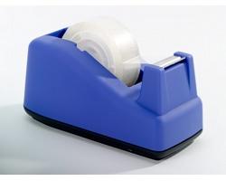 Plastový stolní držák lepicí pásky SLURP s řezákem - modrá