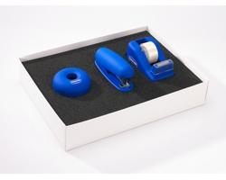 Sada kancelářských potřeb BLUNTED se 3 doplňky - modrá