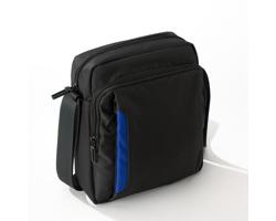 Polyesterová taška přes rameno PLEASANT s nastavitelným ramenním popruhem - modrá