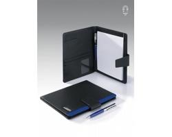 Konferenční desky SHAVANO s kuličkovým perem a poznámkovým blokem, formát A5 - modrá / námořní modrá