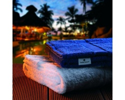 Značková sada froté osušky a ručníku Vanilla Season DEORIA SET 2 - bílá / modrá