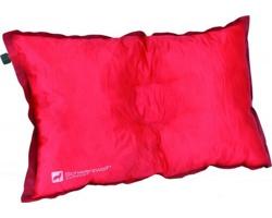 Značkový cestovní samonafukovací polštářek Schwarzwolf RESORT v pouzdře - červená